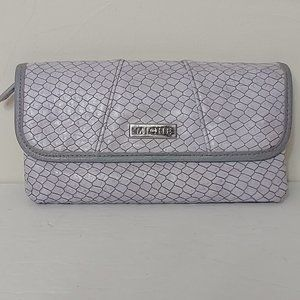 Miche Purple Snake Fish Scale Leather Wallet
